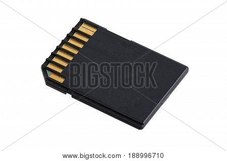 Sd Card On A White Background
