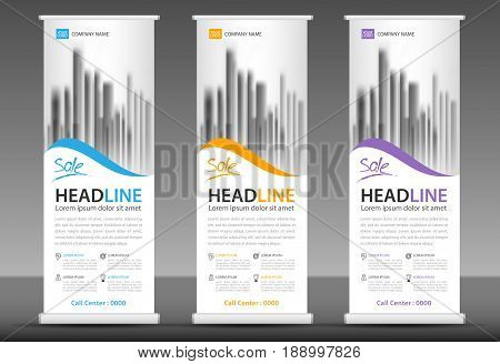 Roll up banner stand template design x-banner layout