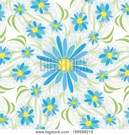 ute spring or summer flowers floral background.