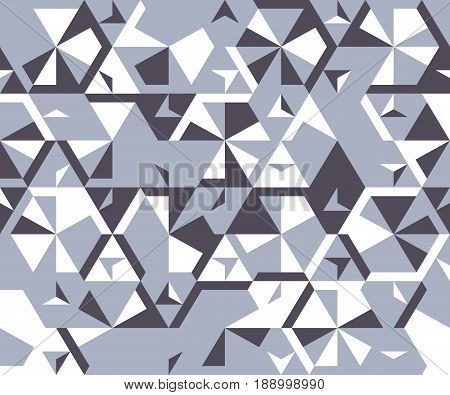 Seamless pattern from simple triangular elements. Geometric shapes on a white background.