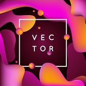 Vector Design Template And Illustration In Trendy Bright Gradient Colors