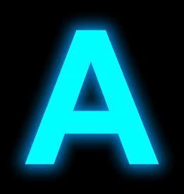 Letter A Neon Light Full Isolated On Black