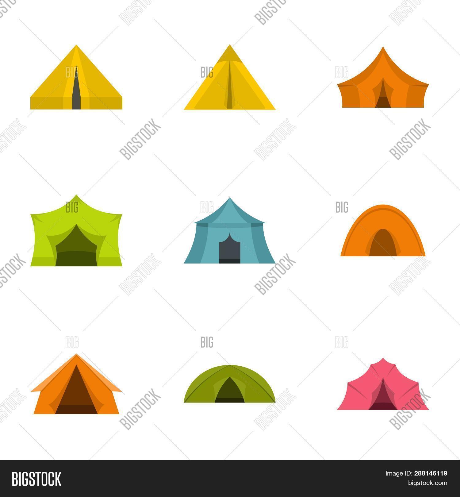 Tent Form Icon Set  Image & Photo (Free Trial) | Bigstock