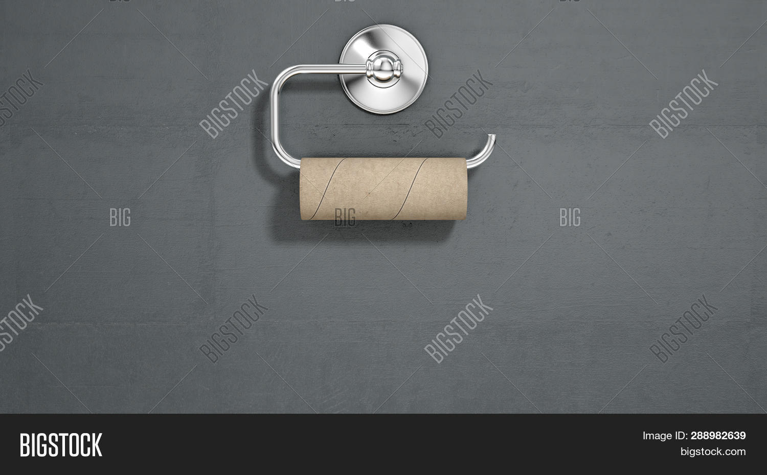 Empty Toilet Roll On Image Photo Free Trial Stock