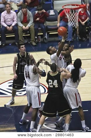 A Battle For Rebound By Arizona Wildcat Kevin Parrom