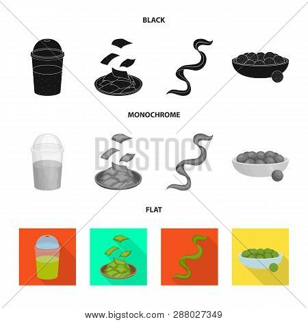 Vector design of protein and sea symbol. Collection of protein and natural vector icon for stock. poster
