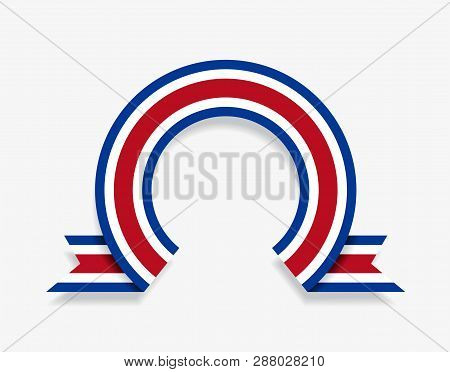 Costa Rican Flag Rounded Abstract Background. Vector Illustration.