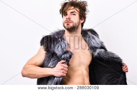 Fashion Concept. Fashion And Pathos. Richness And Luxury Lifestyle. Sexy Sleepy Rich Macho Tousled H