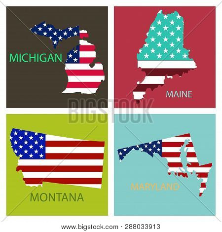 Poster Map United Vector & Photo (Free Trial)   Bigstock