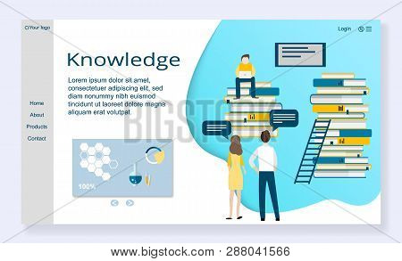Website Template Of Knowledge Concept, Modern Flat Design Vector Illustration, For Graphic And Web D