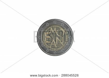 Commemorative 2 Euro Coin Of Slovenia Issued In 2015, Dedicated To 2000th Anniversary Of The Foundin