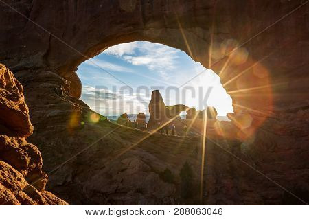 Sunset And Turret Arch