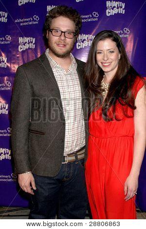 LOS ANGELES - JAN 13:  Seth Rogen; Lauren Miller. arrives at  the