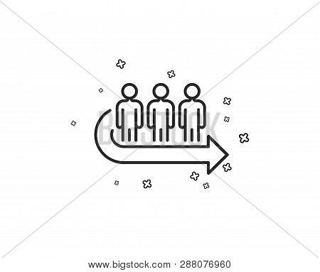 Queue Line Icon  Vector & Photo (Free Trial) | Bigstock
