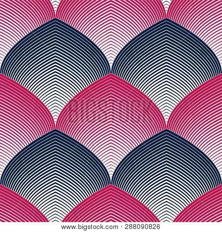 Seamless Geometric Pattern. Geometric Simple Fashion Fabric Print. Vector Repeating Tile Texture. Ro