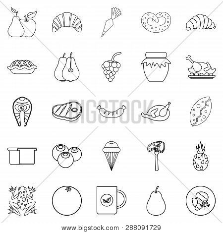 Fare Icons Set. Outline Set Of 25 Fare Icons For Web Isolated On White Background