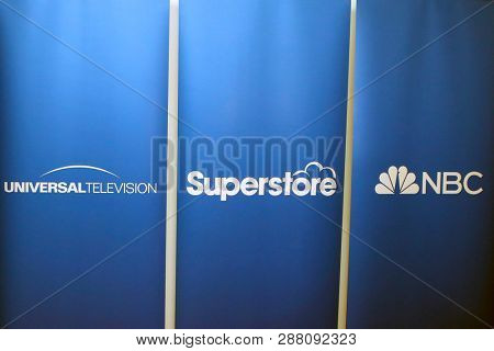 LOS ANGELES - MAR 5: General Atmosphere, Logo  at the NBC And Universal Television's 'Superstore' Academy For Your Consideration Press Line at Universal Studios on 5 March, 2019 in Los Angeles, CA