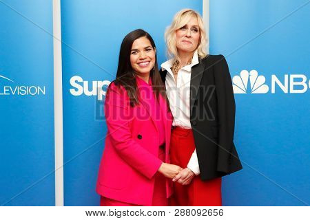 LOS ANGELES - MAR 5: America Ferrera, Judith Light at the NBC And Universal Television's 'Superstore' Academy For Your Consideration Press Line at Universal Studios on 5 March, 2019 in Los Angeles, CA