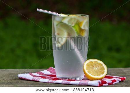 Sparkling spring water with lemon 9