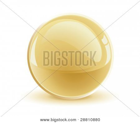 3d vector gold sphere