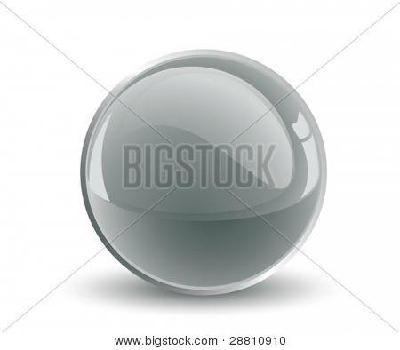 3d vector black sphere