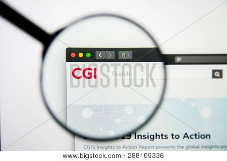 Los Angeles, California, Usa - 5 March 2019: Cgi Group Website Homepage. Cgi Group Logo Visible On D