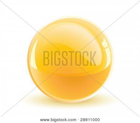 3d vector yellow sphere
