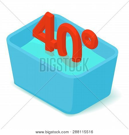 Basin 40 Degrees Icon. Isometric Illustration Of Basin 40 Degrees Icon For Web