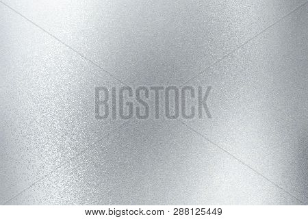 Shiny Brushed Silver Metallic Panel, Abstract Texture Background