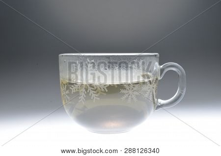 Full Glass Of Water Isolated On Back Ground