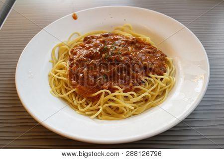 Traditional Italian Spahgetti Bolognaise