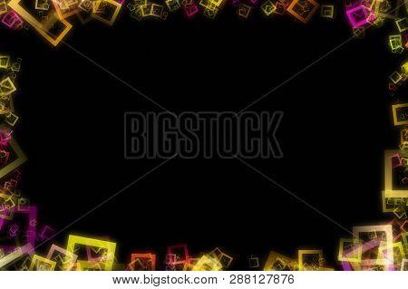 Fantastic Abstract Square Frame Background Design Illustration