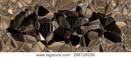 Wonderful Abstract Illustrated 3d Glass Pattern Panorama Design