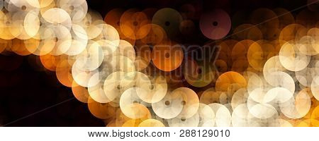 Fantastic Abstract Circle Design Panorama Background Illustration