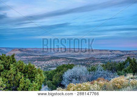 Dusk Over Shrubland In Southwest Wyoming Usa