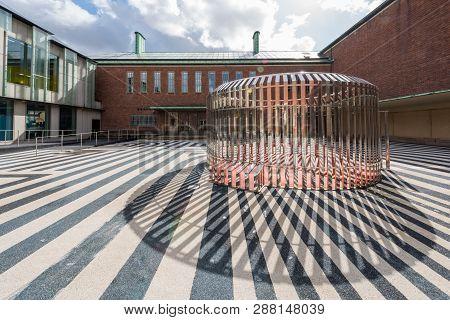 Rotterdam, Netherlands - March 26, 2016 : Boijmans Van Beuningen Museum Courtyard On A Sunny Day