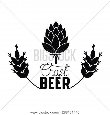 Craft Beer Label With Pinecone Isolated Icon Vector Illustration Desing