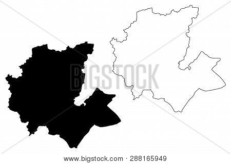 Fes-Meknes Region (Administrative divisions of Morocco, Kingdom of Morocco, Regions of Morocco) map vector illustration, scribble sketch Fas-Meknas map poster