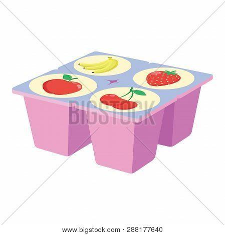 Illustration Of A Fruit Yogurt On A White Background