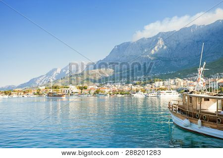 Makarska, Dalmatia, Croatia, Europe - Setting Sail From The Harbor Of Makarska