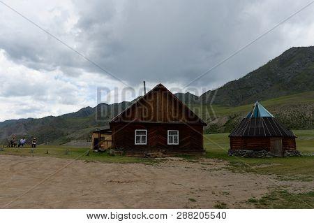 Altai Republic, Russia - June 8, 2018: Kalbak-tash Tract, Altai Mountains, Siberia, Russia