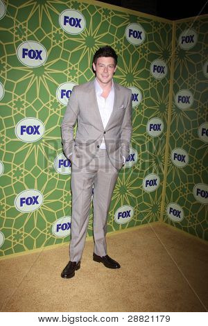 LOS ANGELES - JAN 8:  Cory Monteith arrives at the Fox TCA Party - Winter 2012 at Castle Green on January 8, 2012 in Pasadena, CA