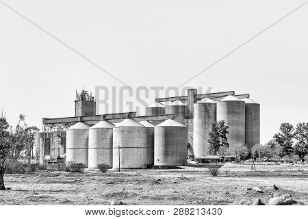 Vredefort, South Africa, August 2, 2018: Grain Silos In Vredefort In The Free State Province Provinc