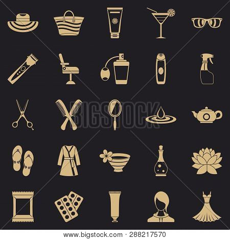 Toiletry Icons Set. Simple Set Of 25 Toiletry Vector Icons For Web For Any Design