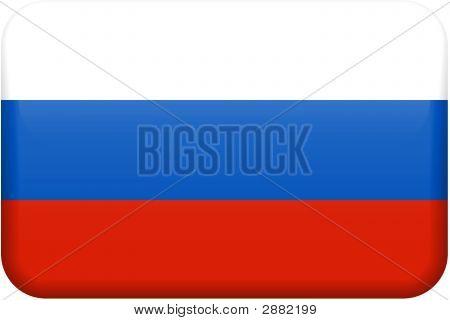 Russia Flag Button