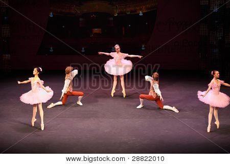 MOSCOW - MARCH 17: Ballet at concert of Gennady Ledyakh School of Classical Dance in theater Et Cetera, on March 17, 2011, Moscow, Russia. Concert held for winners in competition on Russian language.