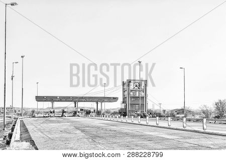 Brandfort, South Africa, August 2, 2018: The Brandfort Toll Plaza, Representing A Mine Headgear, Bet