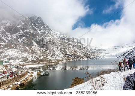 14th March At Tsomgo (changu) Lake Situated Over The Elevation Of 13313 Ft In Mighty Himalaya, East