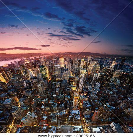 Panoramablick nach New York Manhattan New York city