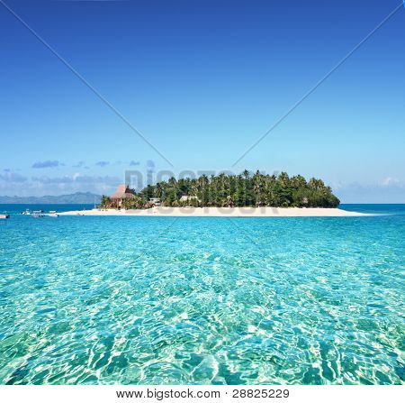 Amazing Fiji island and clear sea poster